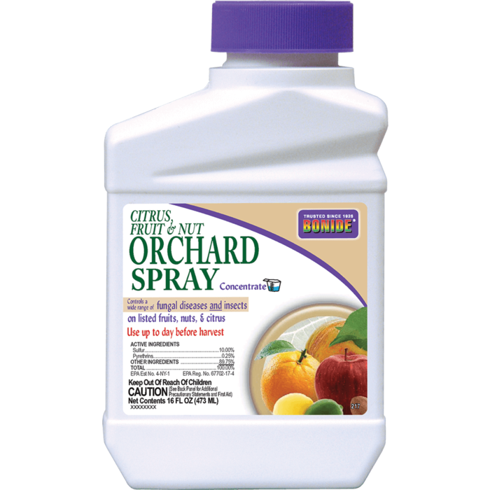 1Pt Citrus Fruit & Nut Orchard Spray Concentrate Insect-Fungicide Bonide
