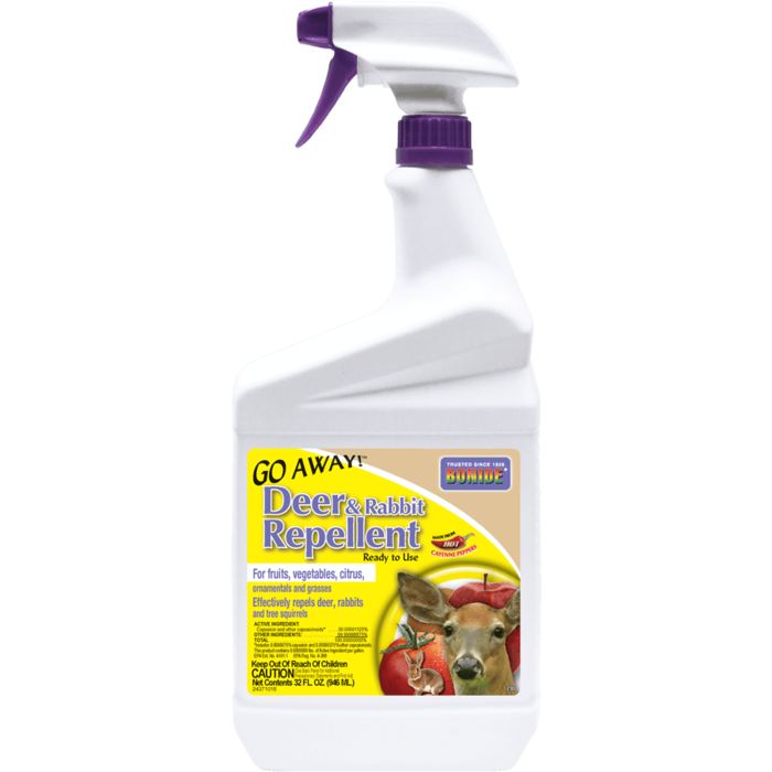 1Qt Go Away Deer & Rabbit Repellent RTU Bonide