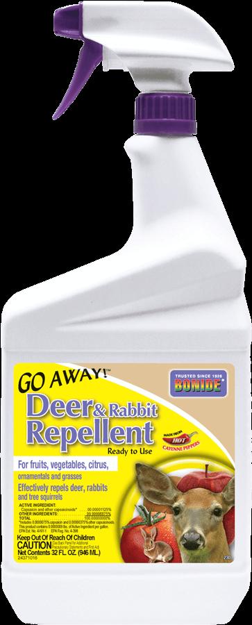 1Qt Go Away Deer & Rabbit Repellent RTU Bonide