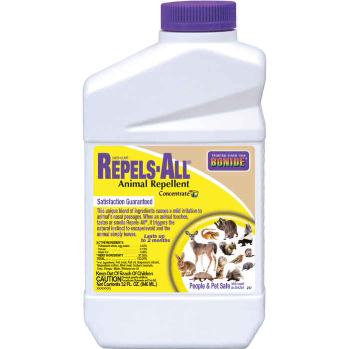 1Qt Repels-All Animal Repellent Concentrate Bonide