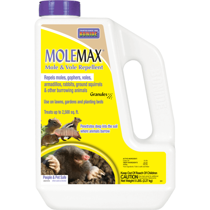 5Lb MoleMax Mole/Vole Repellent Granules Bonide