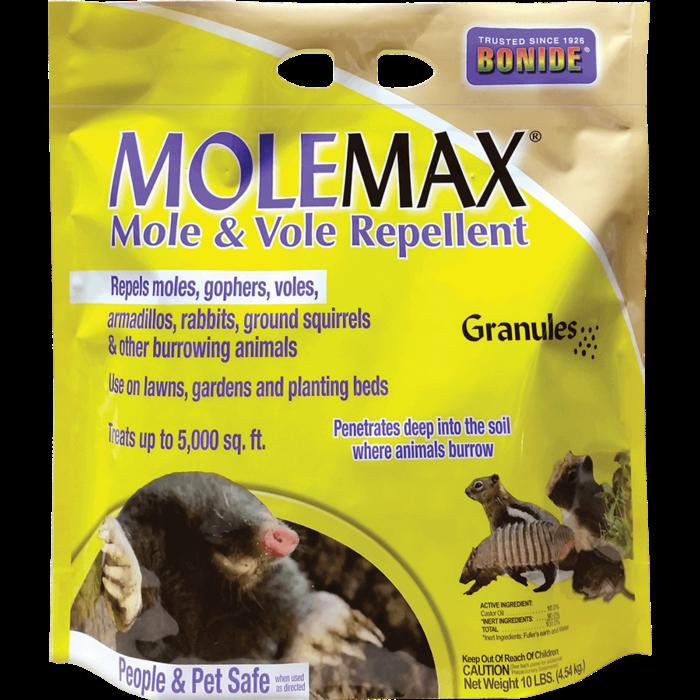 10Lb MoleMax Mole/Vole Repellent Granules Bonide