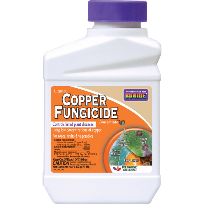 1Pt Copper Fungicide Liquid Concentrate Bonide