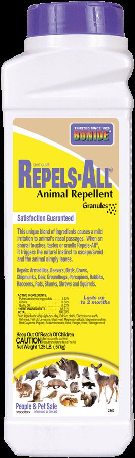 1.25Lb Repels-All Animal Repellent Granules Bonide