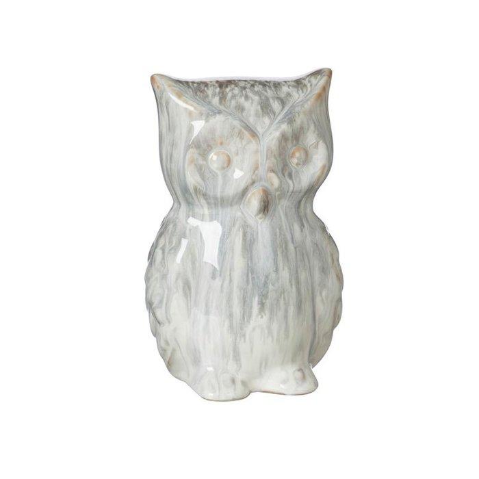 "Statuary Owl Grey 7"" Ceramic"