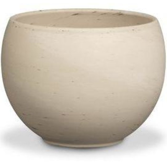 "Pot Luna Sphere /Bowl 12"" Granite Marble Clay /Terracotta"