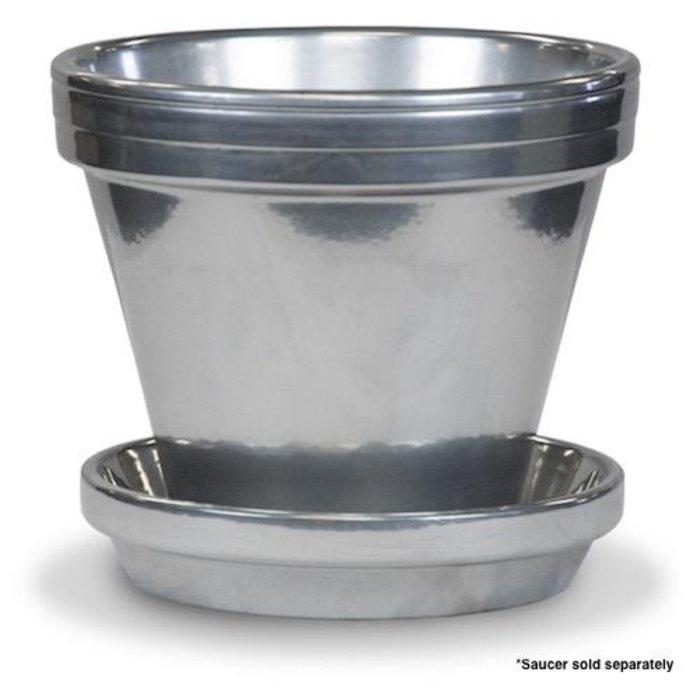 """Pot 4"""" Glazed Standard Silver"""