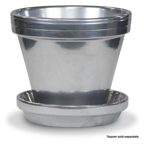 """Pot 8"""" Glazed Standard Silver"""