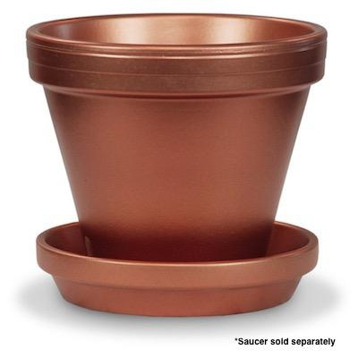 "Pot 8"" Glazed Standard Copper"