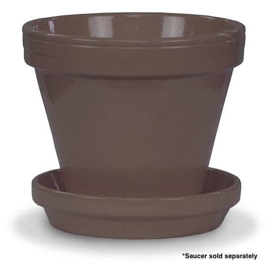 """Pot 6"""" Glazed Standard Putty Grey"""
