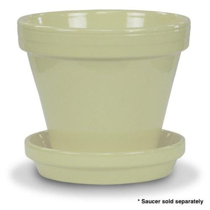 """Pot 6"""" Glazed Standard Butter Yellow"""
