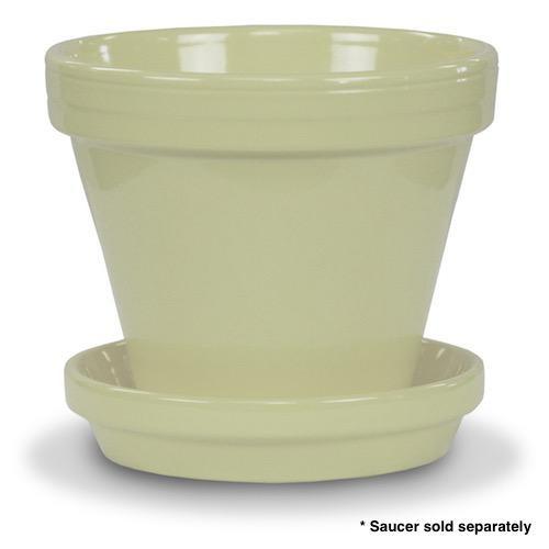 """Pot 8"""" Glazed Standard Butter Yellow"""
