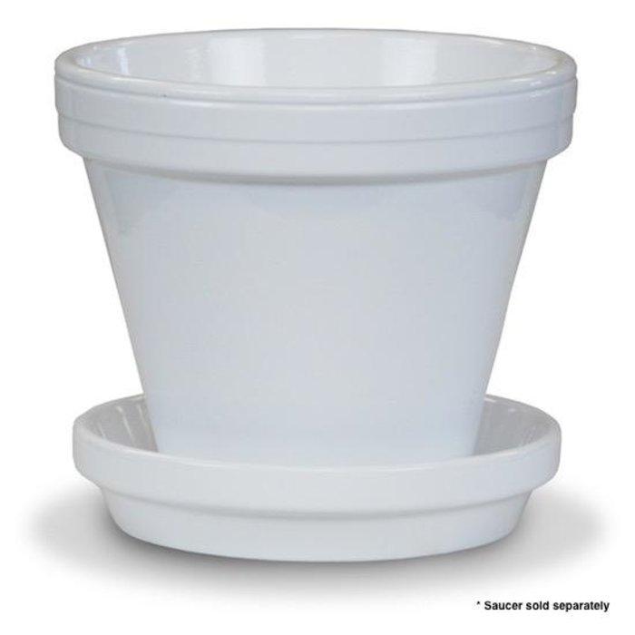 """Pot 4"""" Glazed Standard White"""