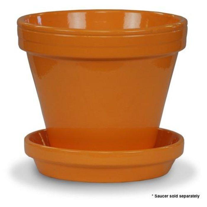 """Pot 4"""" Glazed Standard Orange"""