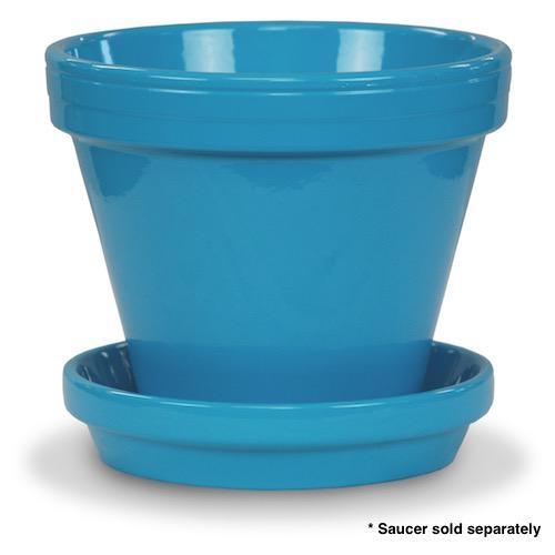"Pot 4"" Glazed Standard Robin Egg Blue"