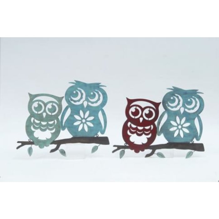 Wall Decor Owls on a Branch 18x15 Metal