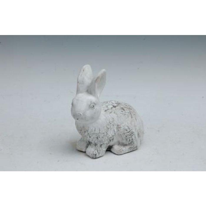 "Statuary Rabbit/Bunny Birch-Look Lrg 8""L Cement"