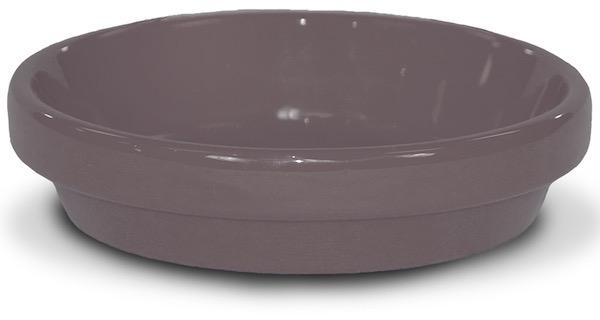 """4"""" Saucer Glazed Putty Grey"""