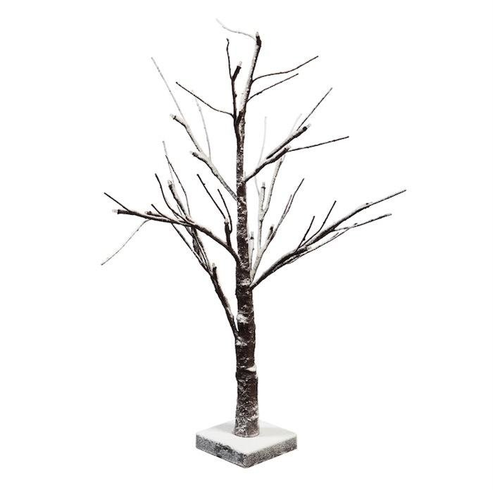 "Christmas Decor LED 24"" Snowy Tree"