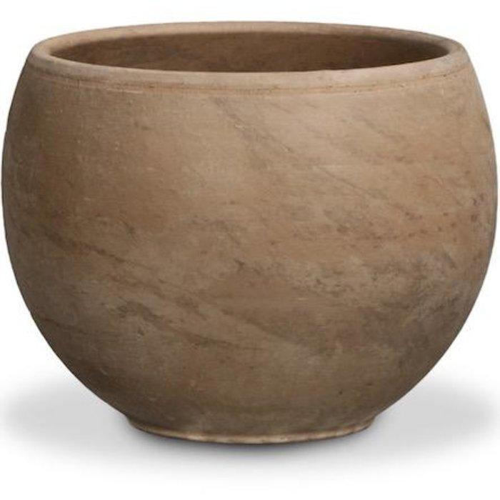 "Pot Luna Sphere 5.25"" Dark Basalt Terracotta"