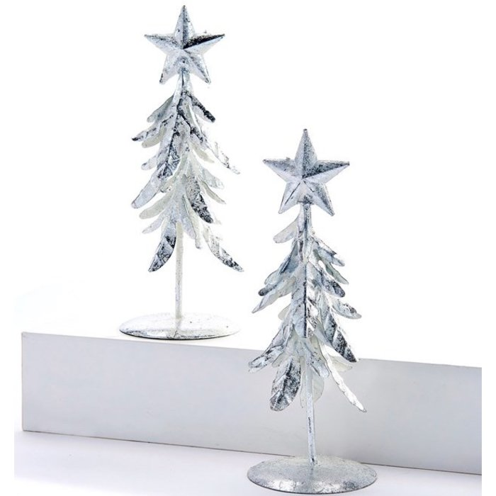 Christmas Decor Metal Tree 2x6 Silver