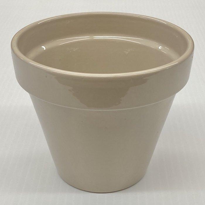 """Pot 4"""" Glazed Standard Desert Sand - X"""