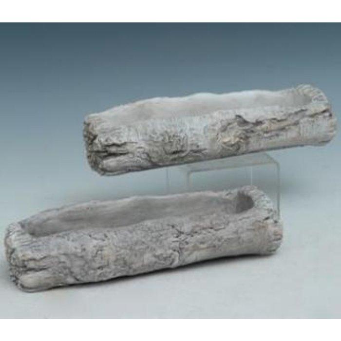 Pot Tree Log 12x5x2 Asst Cement