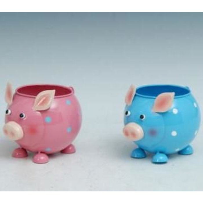 "Pot Pig Standing Planter Metal Multi-Color (pot 3"") 6x4x4"