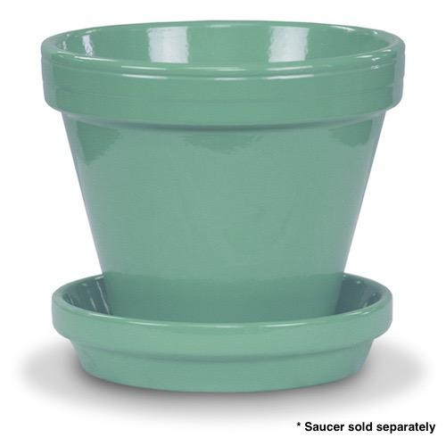 "Pot 4"" Glazed Standard Sage Green"