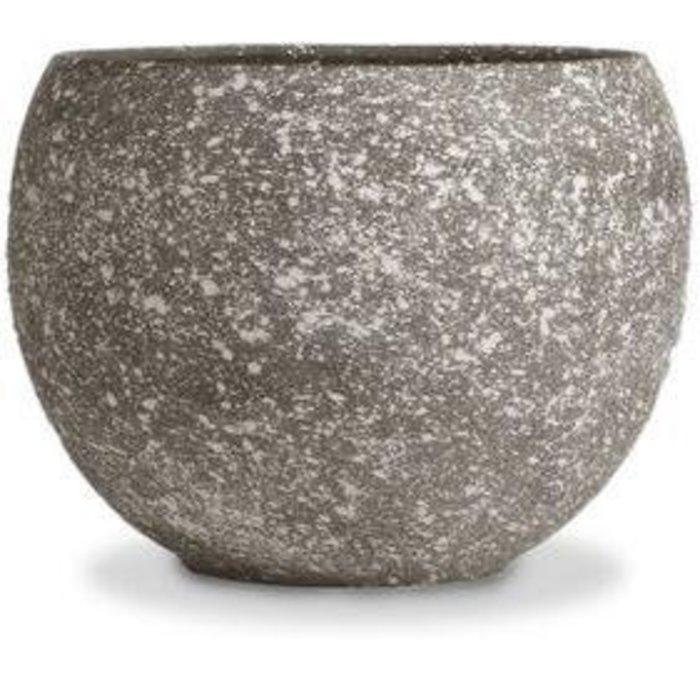 "Pot Luna Sphere /Bowl 5.5"" Speckle Dark /Terracotta"