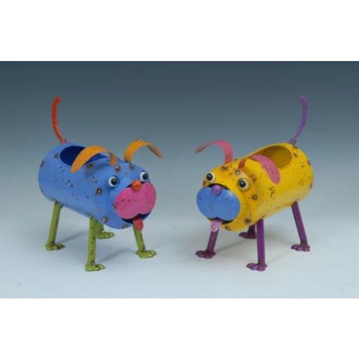 Pot Dog Standing Planter Metal Multi-Color (pot4x3) / 12x6x11H