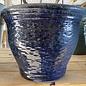 Pot Miranda Rd Planter Med 9x7 Asst Peacock/Rippled