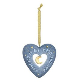 Enesco Love You to the Moon Heart Ornament