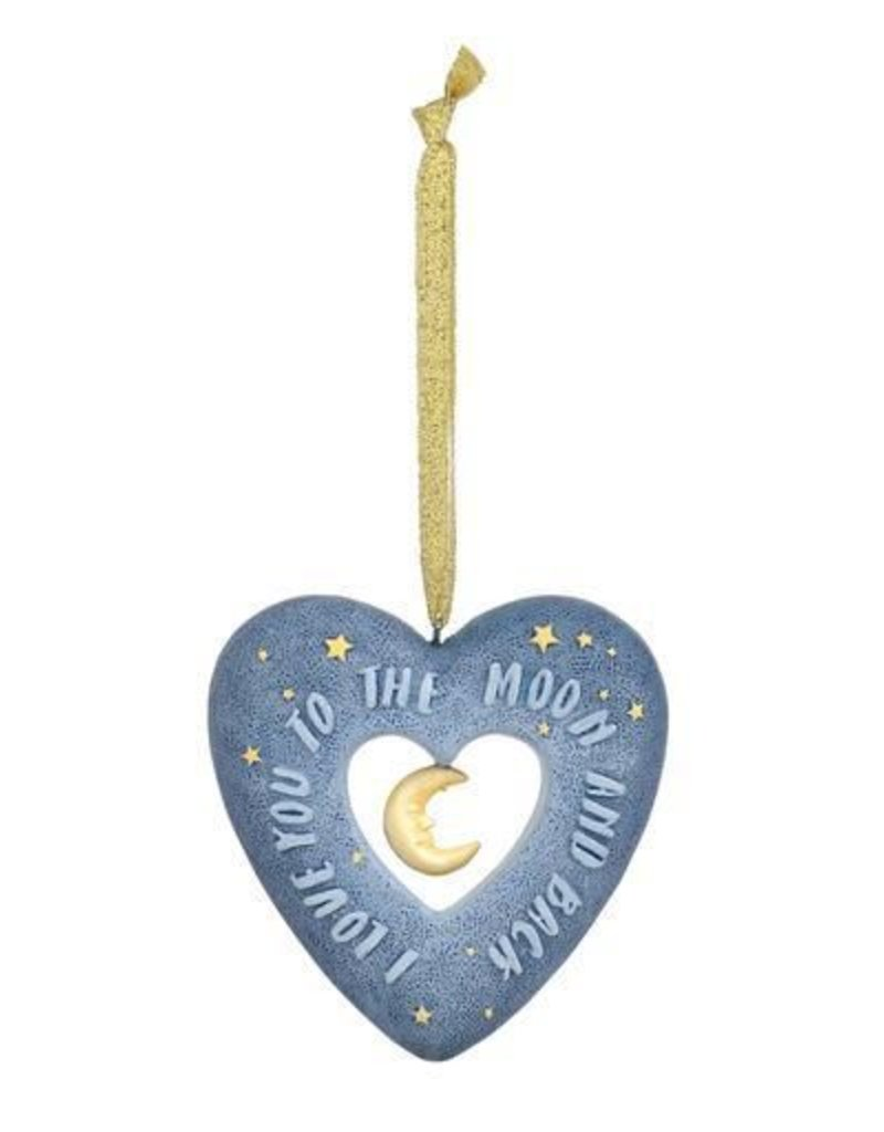 Enesco Love You to the Moon Heart Ornament