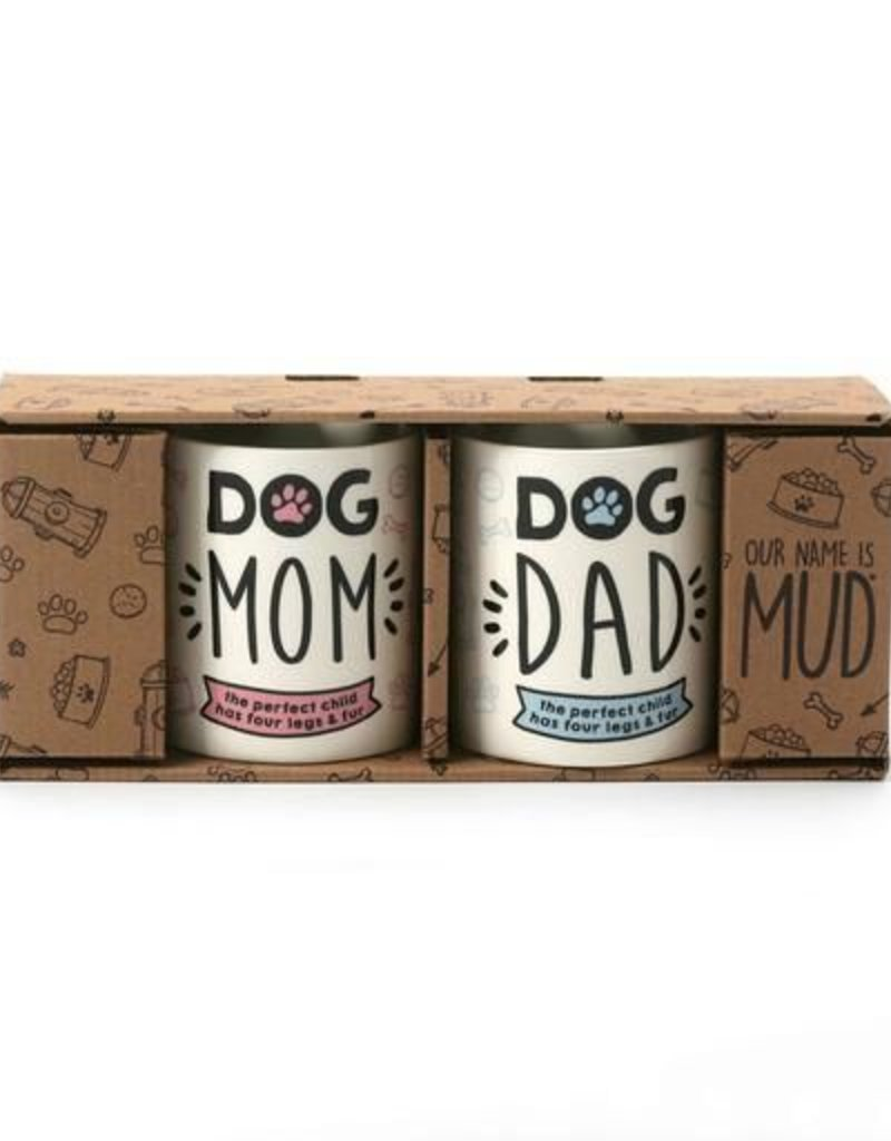 Enesco ONIM Mug Set - Dog Mom & Dad