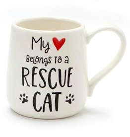 Our Name Is Mud ONIM Mug - Heart Rescue Cat
