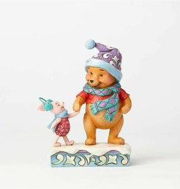 Enesco Winter Pooh and Piglet Figurine