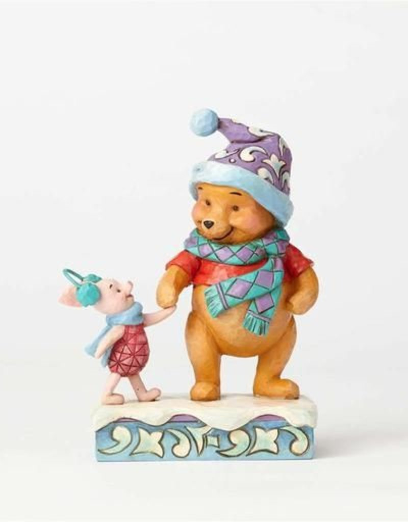 Enesco Winter Pooh and Piglet Figurine