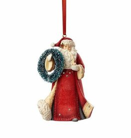Heart Of Christmas HRTCH Santa with Wreath Ornament