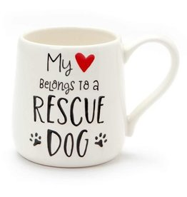 Our Name Is Mud ONIM Mug - Heart Rescue Dog