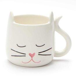 Enesco ONIM Mug - White Sculpted Cat