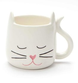 Our Name Is Mud ONIM Mug - White Sculpted Cat