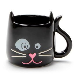 Enesco ONIM Mug - Black Sculpted Cat