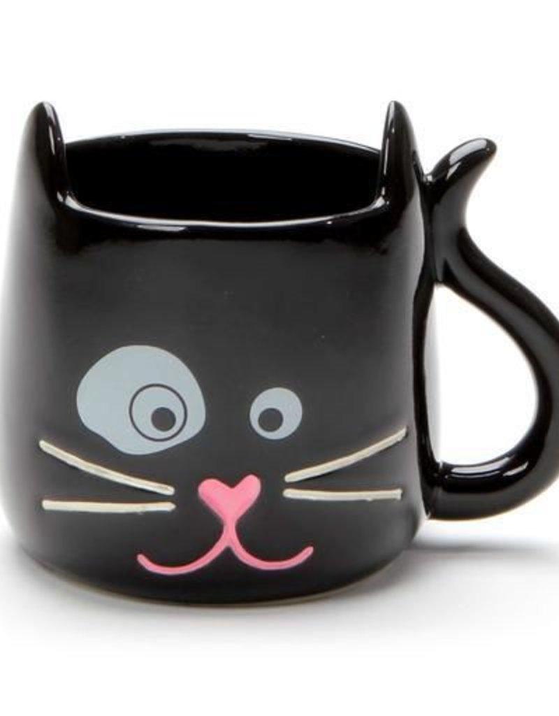 Enesco ONIM Mug - Black Sculpted Cat