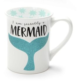 Enesco ONIM Mug - Secretly Mermaid, Glitter