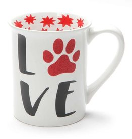 Our Name Is Mud ONIM Mug - Love My Furry Pet, Glitter