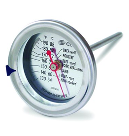 CDN Thermometer Cooking Meat/Poultry Op, 120-200ºF