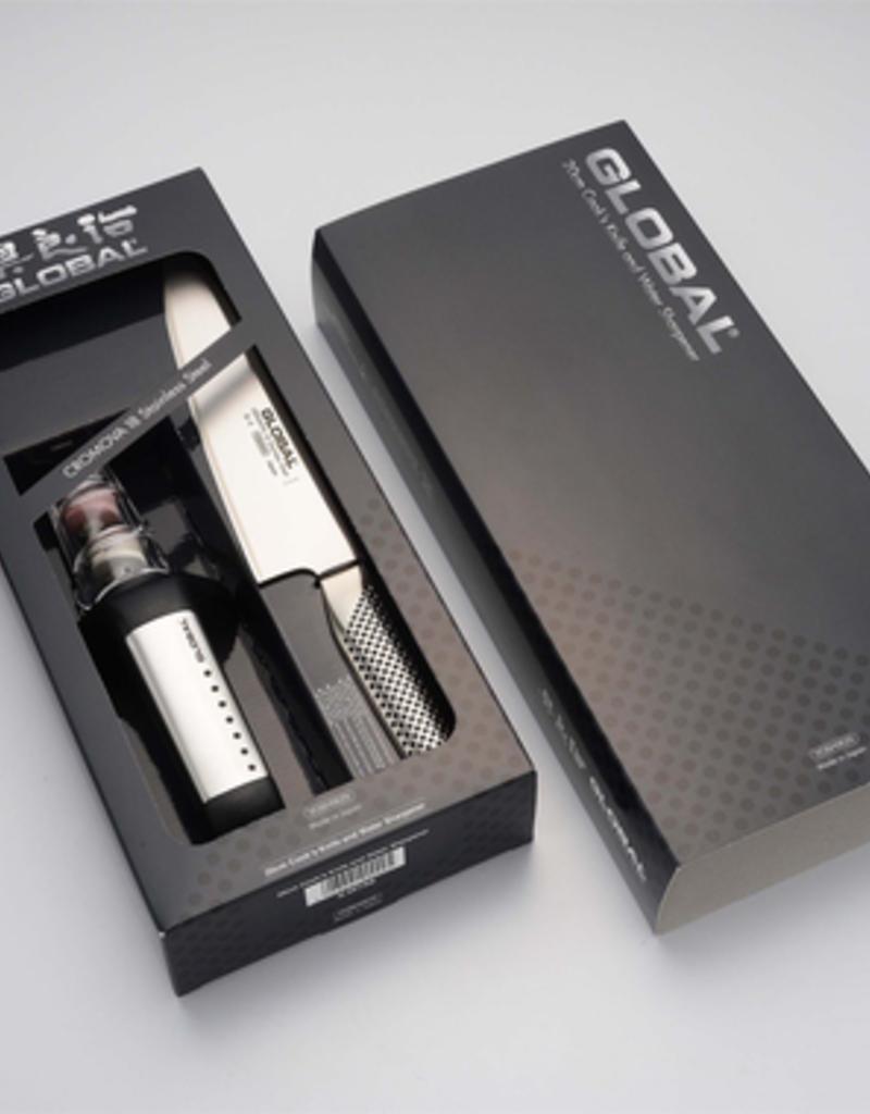 Global 2 Piece Knife & Sharpener Set (G2, G91SB)