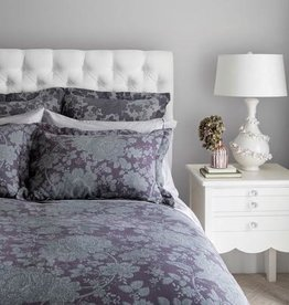 St. Geneve Gia Amethyst Duvet Cover Set, King (2 Shams + 2 Capri Platinum PC)