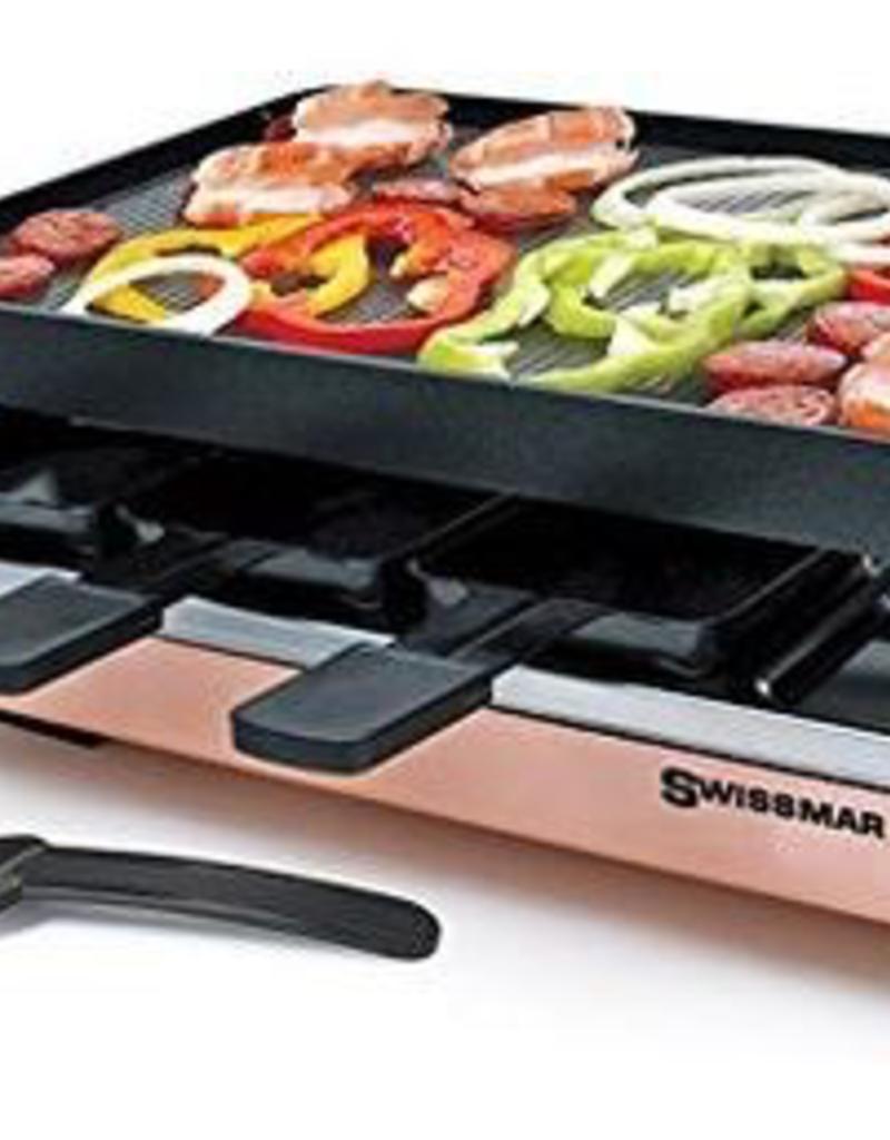 Swissmar Zermatt Copper 8-Person Raclette W/Cast Alum. Grill plate